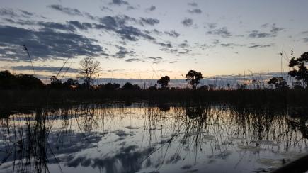 The Delta as the sun set