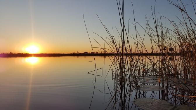 Hippo Pool sun set
