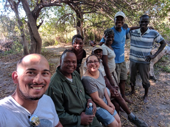 Our great camping crew during our Mokoro camping trip